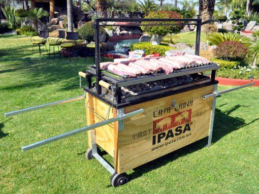 Caja China IPASA equipada con asador argentino